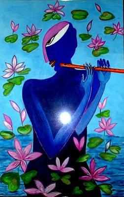 Gopala Painting - Lotus Krishna by Times Art