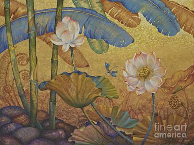 Lotus Land Art Print by Yuliya Glavnaya