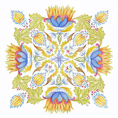 Painting - Lotus Mandala by Stephanie Troxell