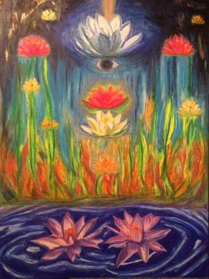 Pastel - Lotus Meditation by Therese Legere