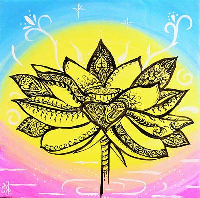 Painting - Lotus  by Meganne Peck