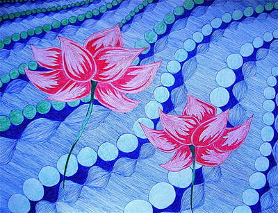 Drawing - Lotus by Michele Bullock