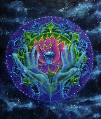 Lotus Of Light Art Print by Deborah Wright