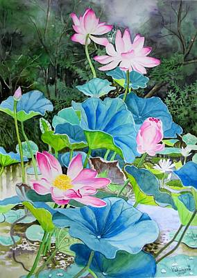 Painting - Lotus Pond 2 by Vishwajyoti Mohrhoff