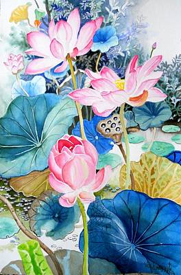Painting - Lotus Pond 3 by Vishwajyoti Mohrhoff