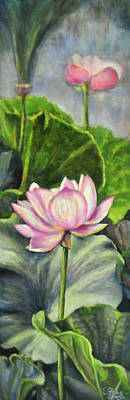 Painting - Lotus Pond by Eileen  Fong