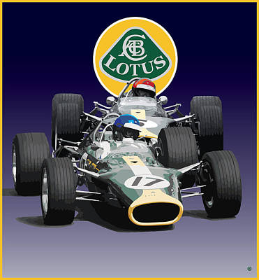 Digital Art - Lotus Racing by Gary Grayson