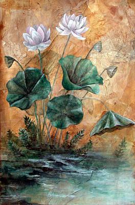 Lotus Art Print by Sandy Clift