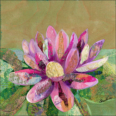 Lilies Paintings - Lotus Series II - 2 by Shadia Derbyshire