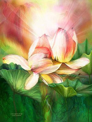 Blossom Art Mixed Media - Lotus - Spirit Of Life by Carol Cavalaris