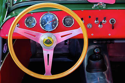 Photograph - Lotus Super Seven Dashboard by Arthur Dodd
