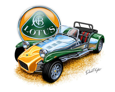 Lotus Super Seven Sports Car Art Print by David Kyte