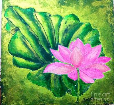 Painting - Lotus by Sylvie Leandre