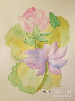 Painting - Lotus Watercolor by Maria Urso