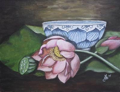 Painting - Lotus Zen by Kim Selig
