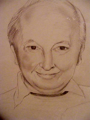 Drawing - Lou Chapman Portrait by Nancy Kane Chapman