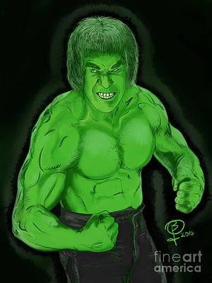 Lou Ferrigno's Hulk Art Print by Joseph Burke