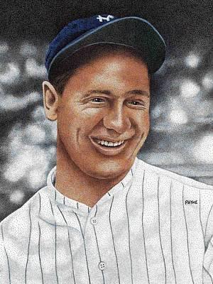 Lou Gehrig Drawing - Lou Gehrig by Rob Payne