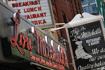 Lou Mitchells Restaurant And Bakery Chicago Art Print