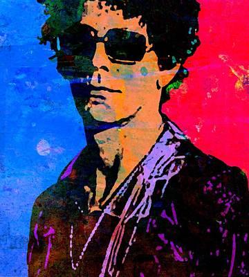 London Tube Mixed Media - Lou Reed 4 by Otis Porritt