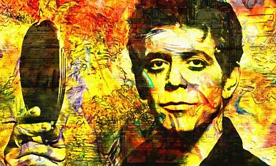 Music Paintings - Lou Reed by Dan Sproul