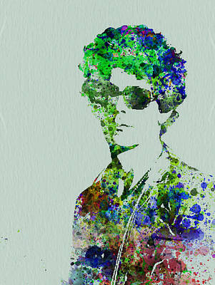 Watercolor Painting - Lou Reed by Naxart Studio