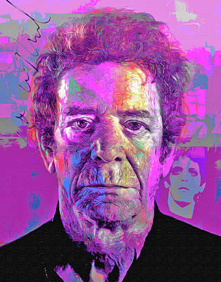 Writer Mixed Media - Lou Reed by Mal Bray