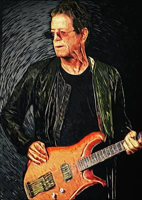 Concert Digital Art - Lou Reed by Taylan Apukovska