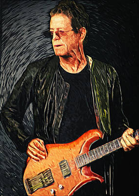 Ostrich Digital Art - Lou Reed by Taylan Apukovska