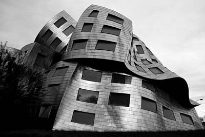 Photograph - Lou Ruvo Center Las Vegas Side View Black And White by Matt Harang