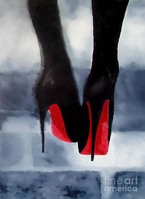 Mixed Media - Louboutin At Midnight by Rebecca Jenkins