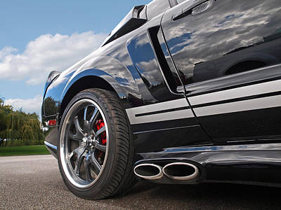 Ford Mustang Racing Photograph - Loud - Mustang Side Exhausts by Gill Billington