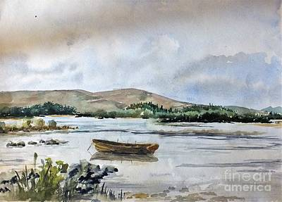 Trout Painting - Lough Ennell 2, Mullingar by Val Byrne