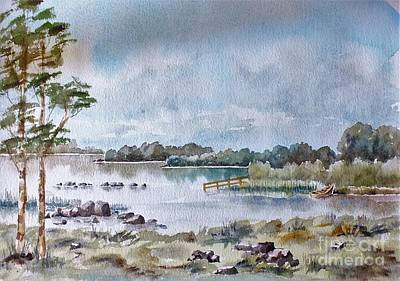 Trout Painting - Lough Ennell Mullingar, Meath by Val Byrne