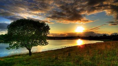 Kim Digital Art - Lough Erne Sunset by Kim Shatwell-Irishphotographer