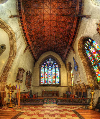 Loughborough Church - Altar Vertorama Art Print