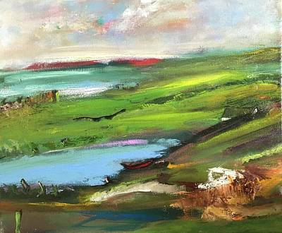 Painting - Lougros Point, Donegal Ireland by Mary Feeney