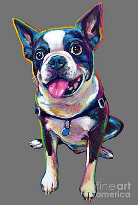 Painting - Louie The Boston Terrier by Robert Phelps