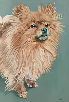 Pomeranian Painting - Louie The Majestic by Nathan Rhoads