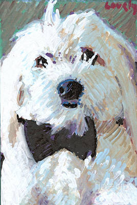 Painting - Louie With Black Tie by Candace Lovely