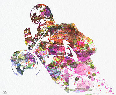 Louis Armstrong 2 Art Print by Naxart Studio