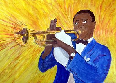 Painting - Louis Armstrong by Anne Sands