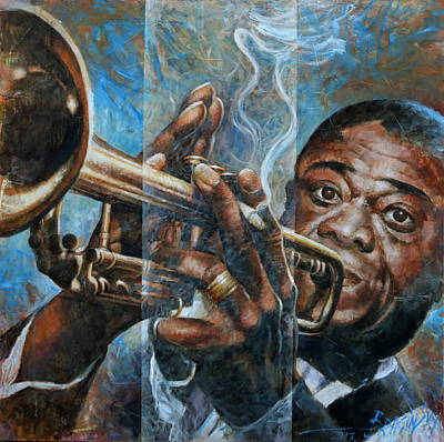 Painting -  Louis Armstrong by Arthur Braginsky