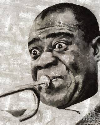 Louis Armstrong Painting - Louis Armstrong By Mary Bassett by Mary Bassett