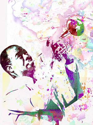 Louis Armstrong Art Print by Elena Kosvincheva