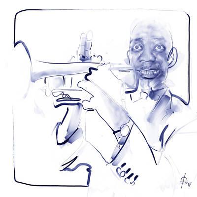 Digital Art - Louis Armstrong by Fabrizio Uffreduzzi