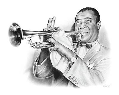 Landmarks Drawings - Louis Armstrong by Greg Joens