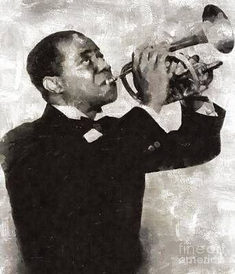 Musicians Royalty Free Images - Louis Armstrong, Jazz Musician Royalty-Free Image by Esoterica Art Agency
