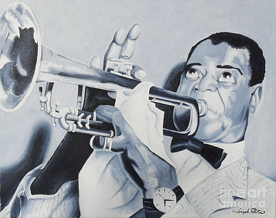 Painting - Louis Armstrong by Joseph Palotas