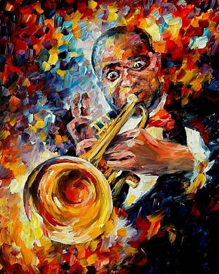 Louis Armstrong Original by Leonid Afremov